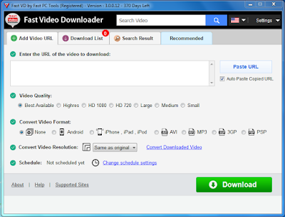 ast Video Downloader Download your videos, playlists, HD videos and convert video fast and easy