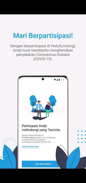 Aplikasi PeduliLindungi oleh Kemkominfo