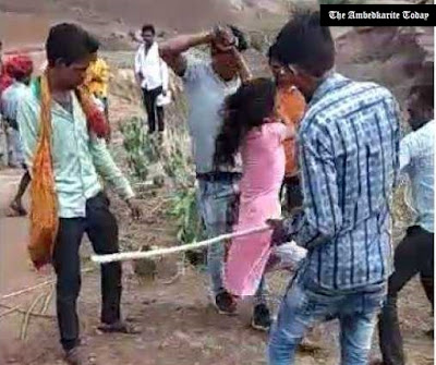 Madhya Pradesh; Tribal Girl Who Run Away With Dalit Youth Thrashed By Family In Public
