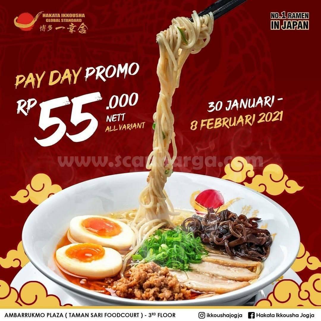 Promo Hakata Ikkousha Payday - Semua menu hanya Rp 55.000 nett