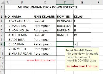 Cara Membuat Informasi dan Pesan Kesalahan di Cell / Range Excel