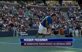 Roger Federer in tennis court