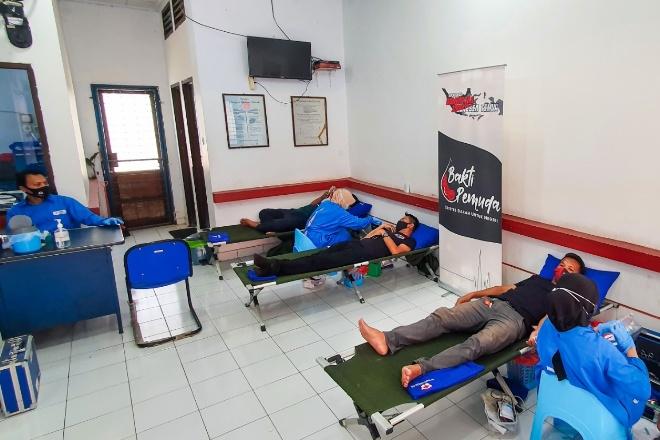 Pecahkan Rekor MURI, Gabungan Komunitas Motor di 3 Kabupaten Sulsel Gelar Donor Darah