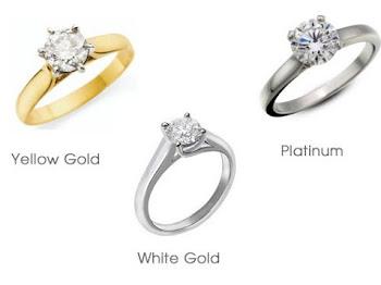 Beda Emas 14K, 18K dan Platina untuk Cincin Berlian