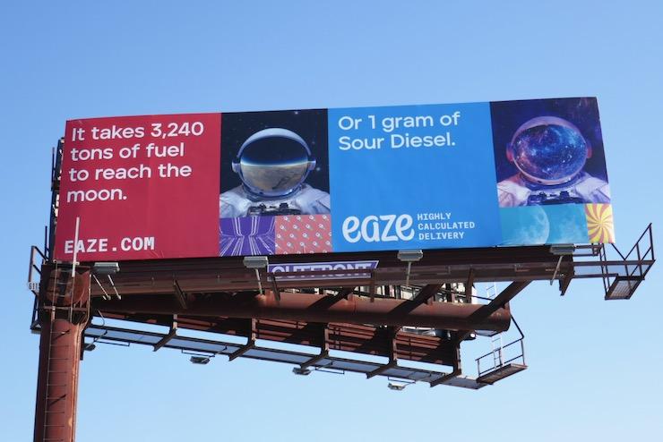 Sour Diesel Eaze billboard