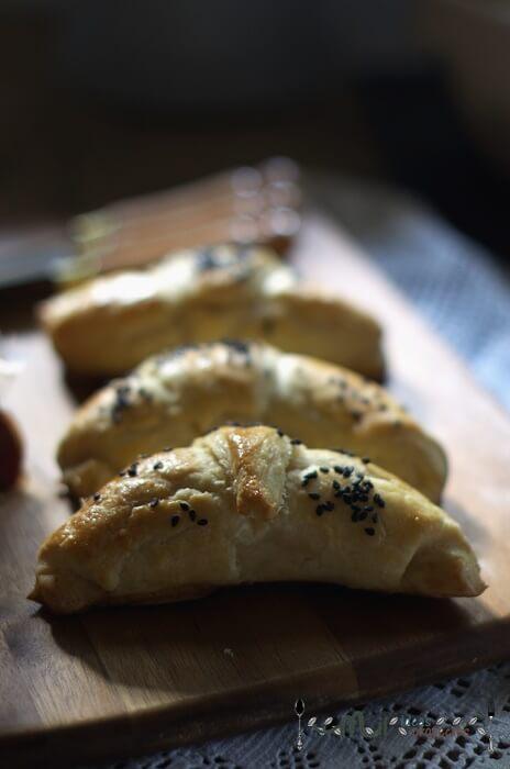 receta de croisants salados rellenos