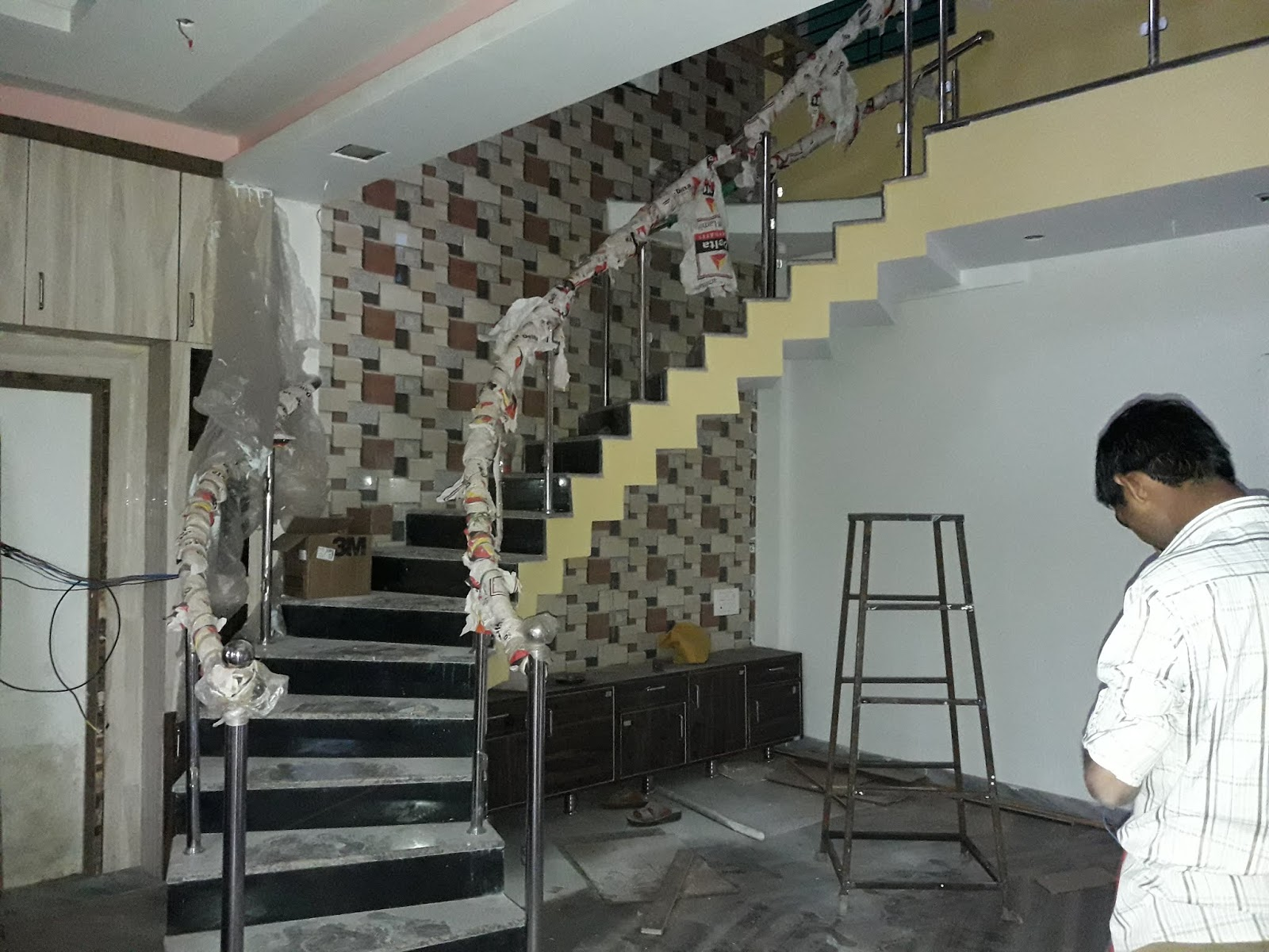 Awesome House Plans 30 × 40 North Face Duplex House Interior Design   Staircase Design For Duplex   Unique   Wood   Space   False Ceiling   Contemporary