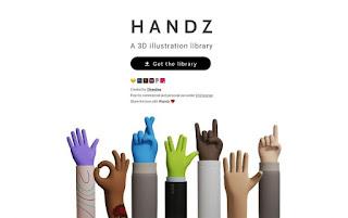 ilustraciones en 3D de diversos gestos con las manos