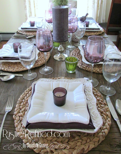Vibrant color and texture table setting suitable for every home