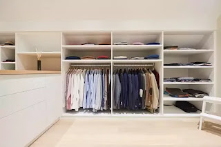 custom-made dressing room for men wardrobe