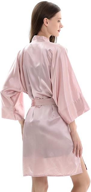 Women's Pink Silk Robes