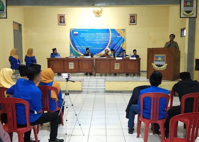 Di Pelantikan PMII, Anggota DPRD Jabar dan Ketua STAIDAF Gagas Desa Binaan