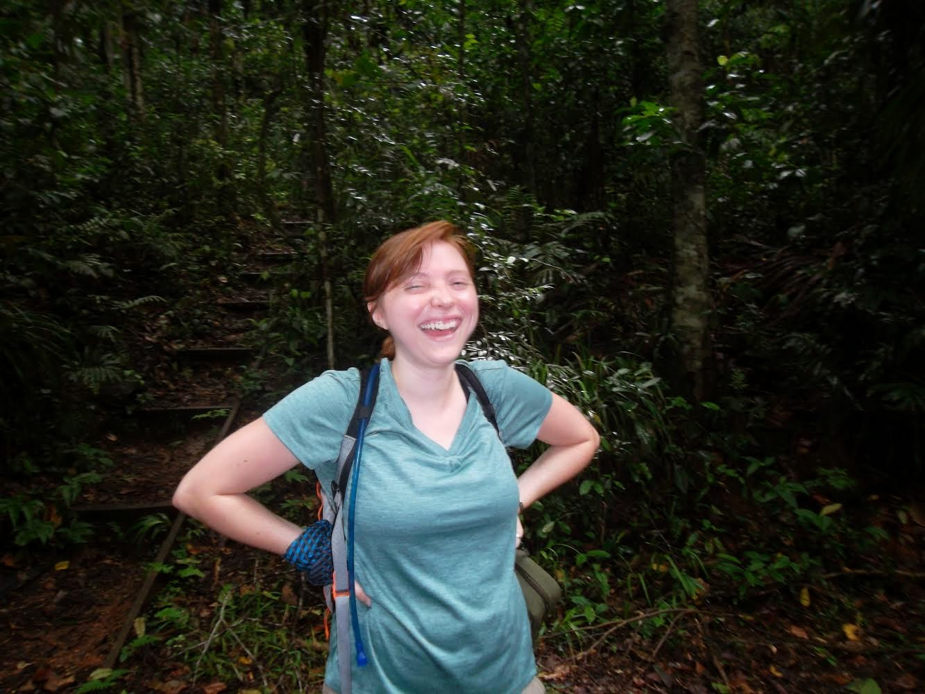 Elizabeth Hutchins during a field trip in Panama