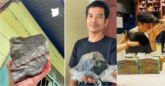 Thiên thạch 2,5 kg giá hơn 5 tỷ đâm thủng mái nhà, chủ tiệm quan tài thành triệu phú