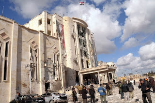 SUICIDE BLASTS IN ALEPPO ARE CLAIMED BY CHEAPER SYRIAN TERRORISTS; MORE NEWS FROM HOMS; 1