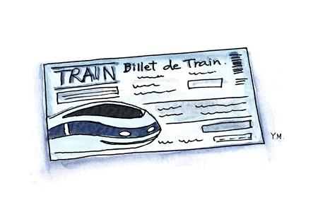 train ticket by Yukié Matsushita