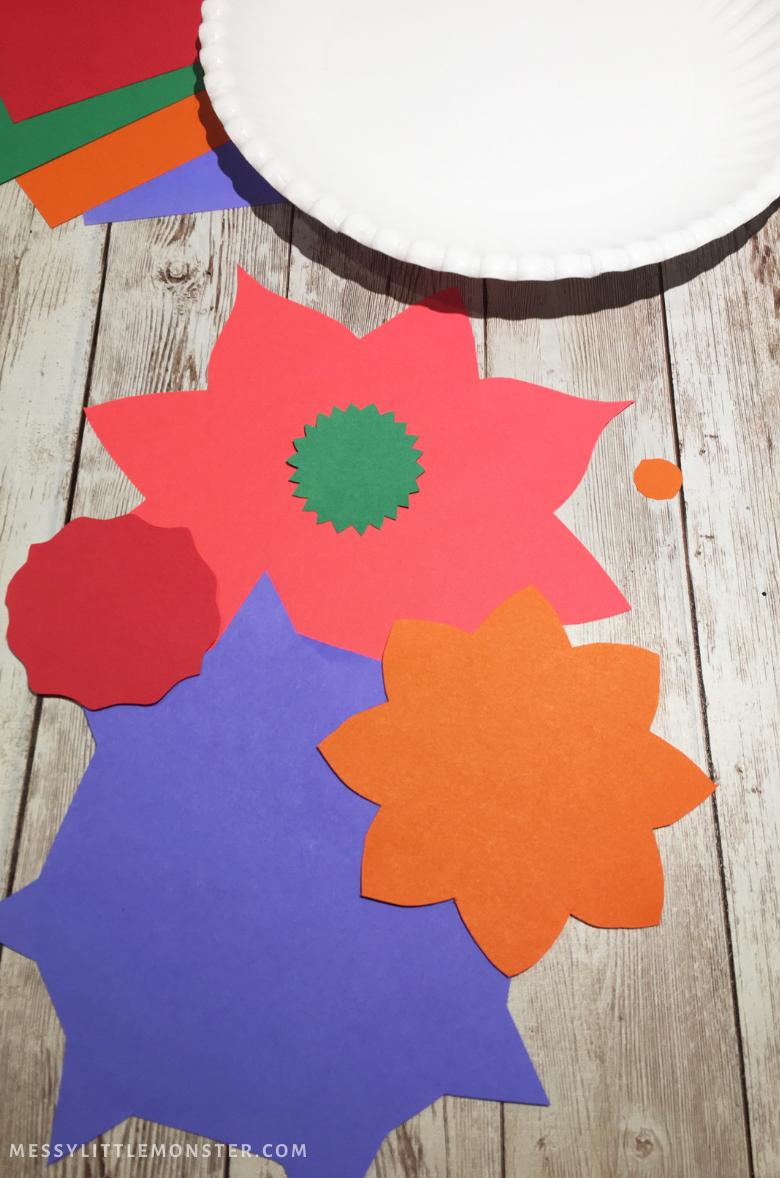 paper rangoli craft for kids