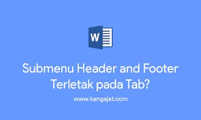 submenu header and footer terletak pada tab