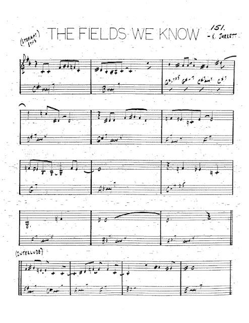 Partitura Trompeta Keith Jarrett