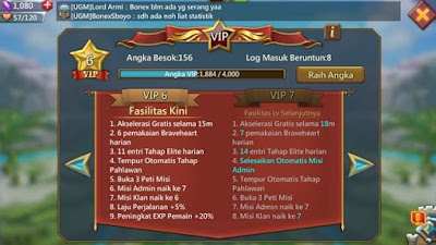 Level VIP Lords Mobile