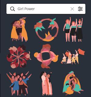 Element Canva Girl Power