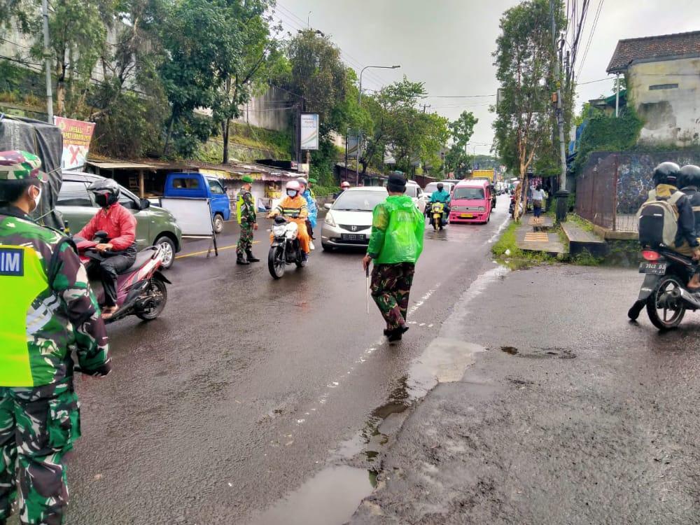 Kodim 0607 Kota Sukabumi Lakukan Penegakan Protokol Kesehatan