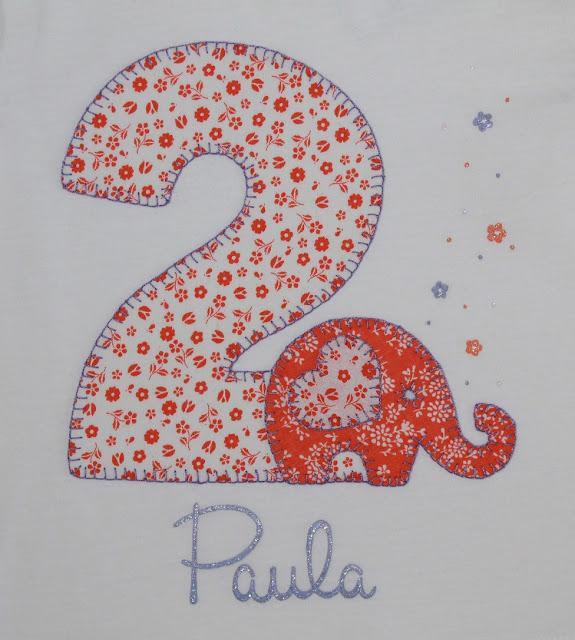 camiseta de cumpleaños 2 años elefante