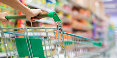 Food Safety Superhero Fighting Food-borne illness and food poisoning prevention - Paying close attention to expiration dates and the placement of your groceries in the grocery cart are your first steps to prevent giving your family a food-borne illness