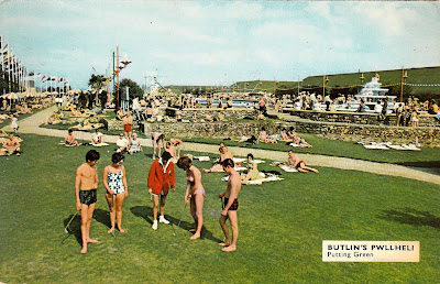 Butlin's Pwllheli Putting Green. Real Butlin's photograph numbered P8. Postally used on 10th August 1966