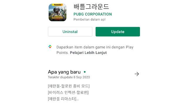 Cara update PUBG Korea KR