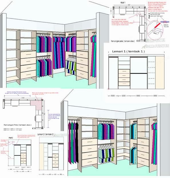 Gambar Desain Kamar Dinding Kayu  MSO Excel 101