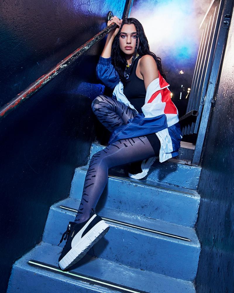Dua Lipa goes glam for the PUMA Mayze Sneaker Campaign