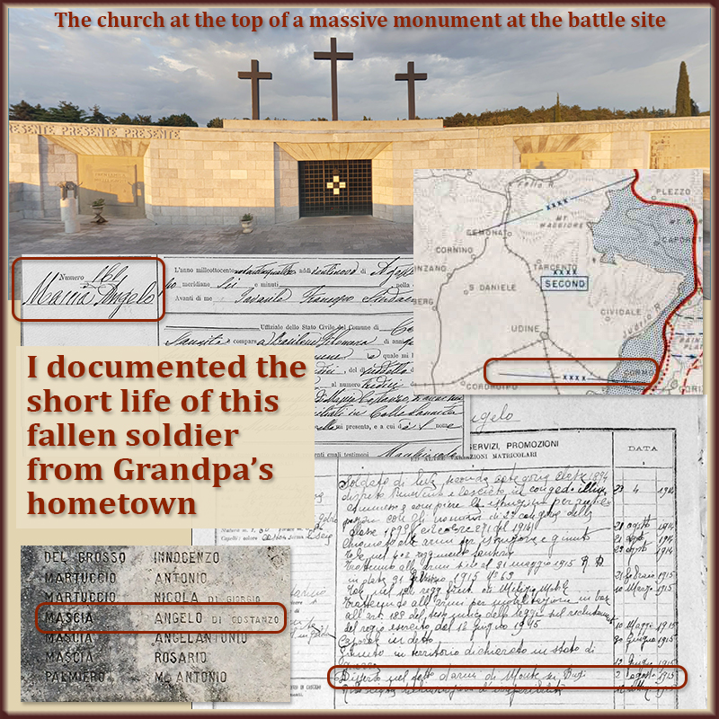 Finding this distant relative's military record led to the site of a massive war memorial.