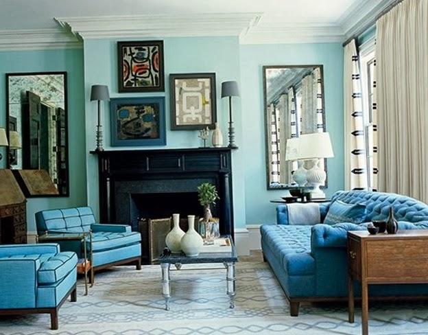 salas turquesas salas con estilo