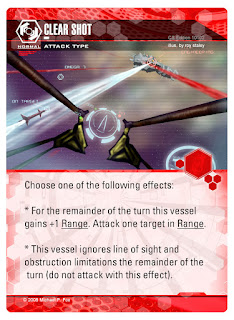 Dog Fight: Starship Edition ATTACK card Clear Shot ignoring limitations