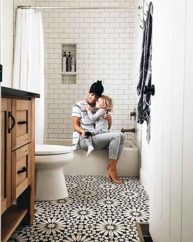 60 Vintage Farmhouse Bathroom Remodel Ideas on Budget