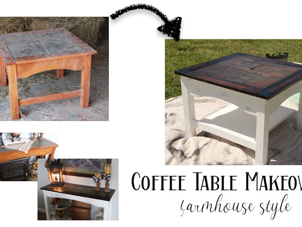 Trash to Treasure - Coffee Table Makeover | Before and After