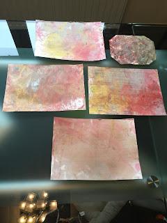 Peinture marbrée, DIY