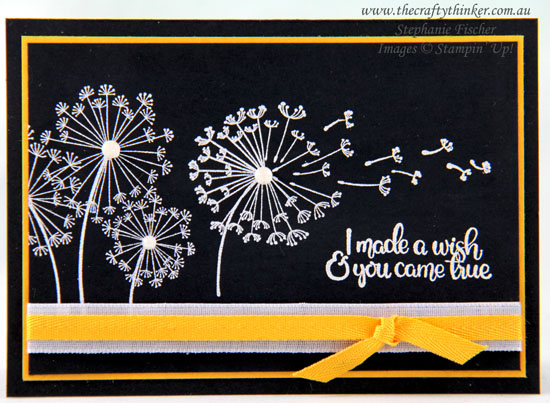 #thecraftythinker #stampinup #dandelion wishes #simplecard #heatembossing #cardmaking , Dandelion Wishes, Heat Embossing, Simple card, Stampin' Up Demonstrator, Stephanie Fischer, Sydney NSW
