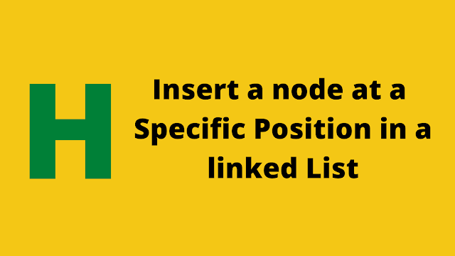 HackerRank Insert a node at a specific position in a linked list solution