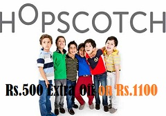 Kids Wear: Get Extra 500 Off on Min Cart Value of Rs.1100 @ Hopscotch (Valid Only Once Per Customer till 31st July'15)