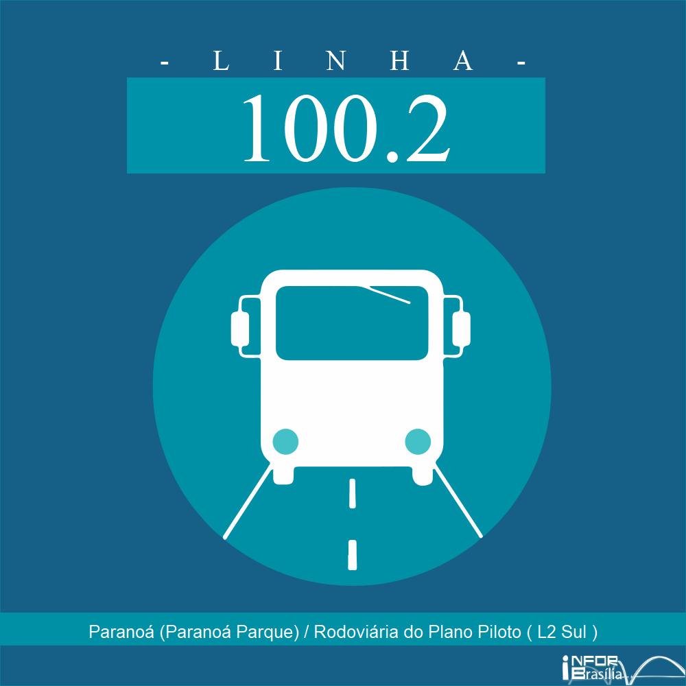 Horário de ônibus e itinerário 100.2 - Paranoá (Paranoá Parque) / Rodoviária do Plano Piloto ( L2 Sul )