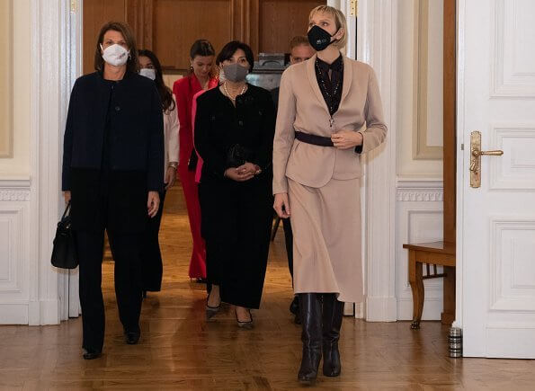 Princess Charlene attended a lunch at the Presidential Palace of Georgia at the invitation of Salome Zourabichvili, President of Georgia