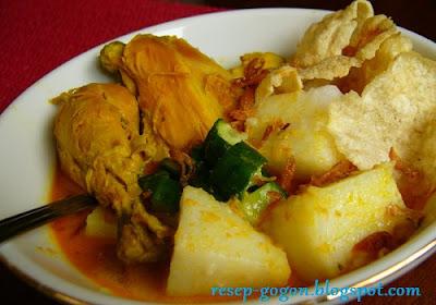 Resep Kare Ayam + Lontong