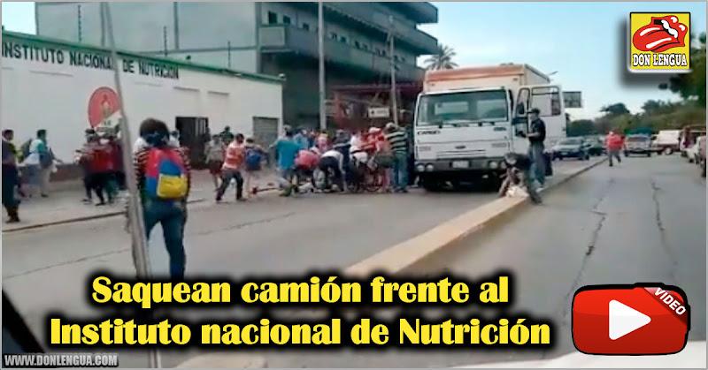 Saquean camión frente al Instituto nacional de Nutrición