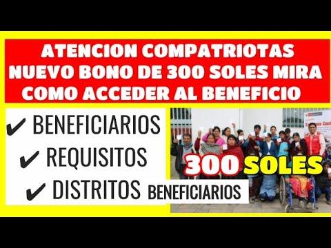 Programa Contigo Perú: 300 Soles