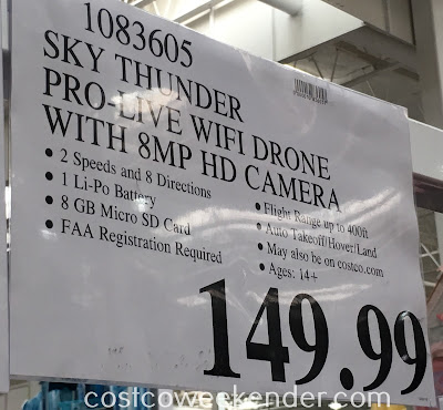 Deal for the Sky Thunder RC HD 8500WH Pro-Live FPV Drone at Costco