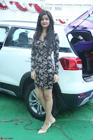 Kritika Telugu cinema Model in Short Flower Print Dress 088.JPG