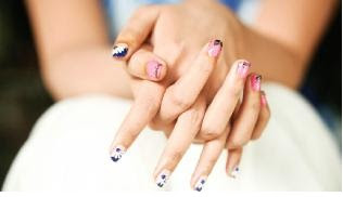 Trendy nail fashion when nail is canvas