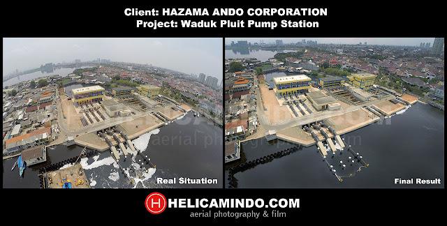 Proses Editing pada Foto Udara pabrik / fasilitas oleh HELICAMINDO